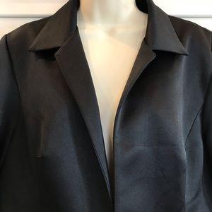 Alex Evenings Black Satiny Evening Jacket